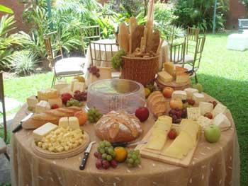 mesa de buffet de quesos