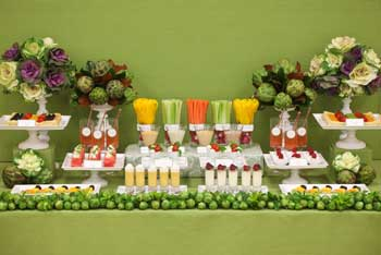 Mesas buffet sorbetes