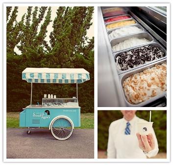 Mesa para boda buffet helados