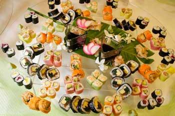 mesa buffet de sushi