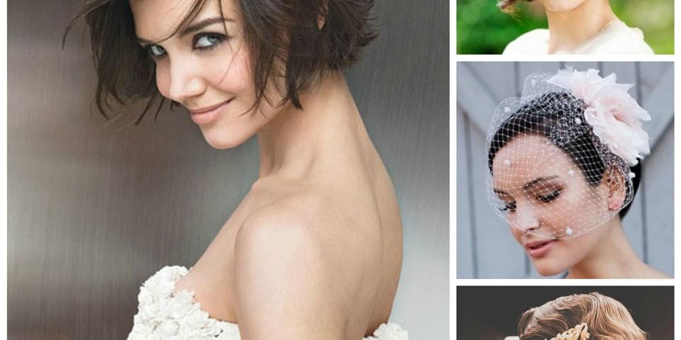 peinados de novia para cabello corto