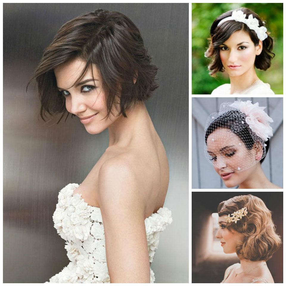 Peinados de novia cortos